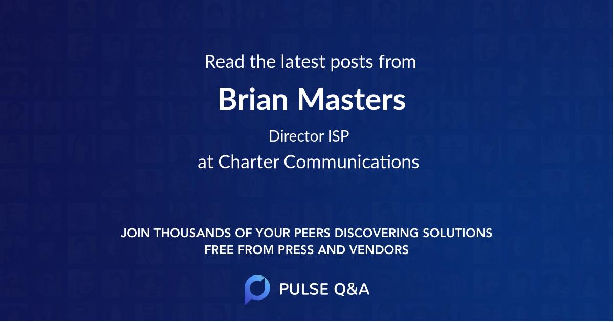 Brian Masters