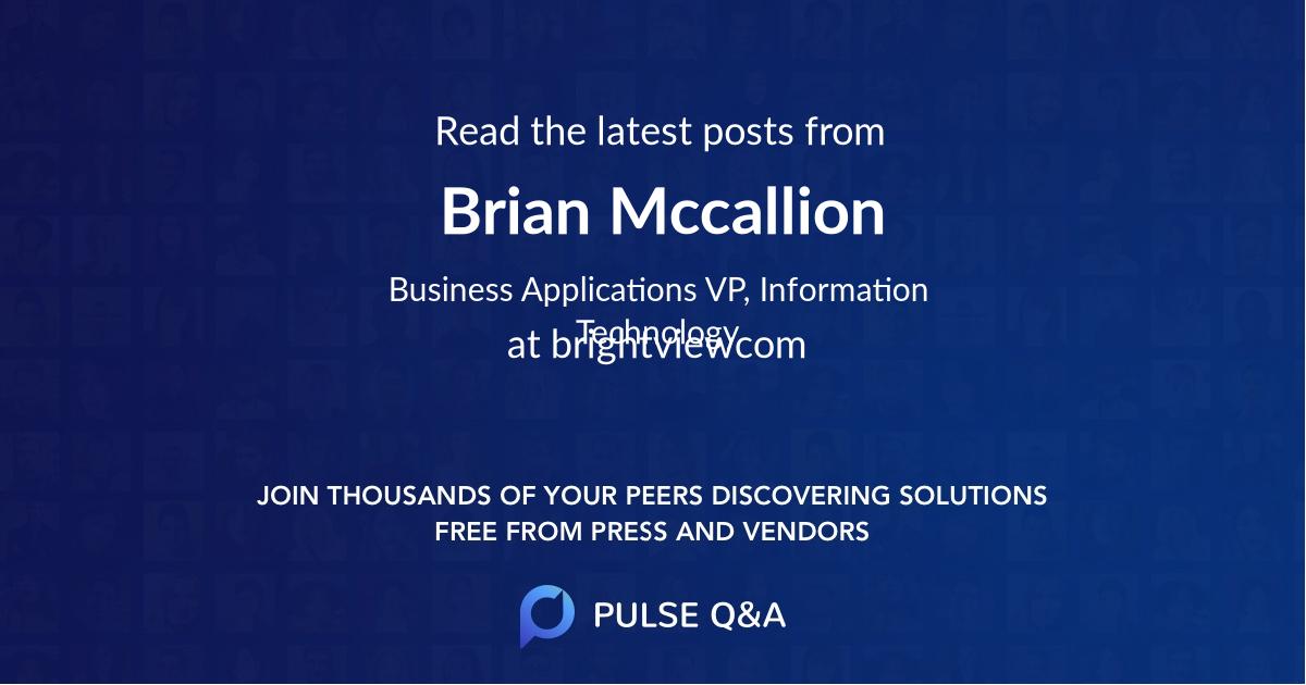 Brian Mccallion