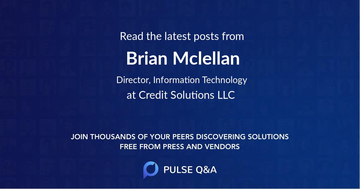Brian Mclellan