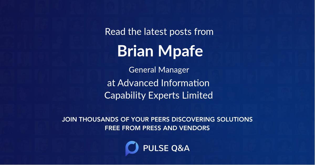 Brian Mpafe