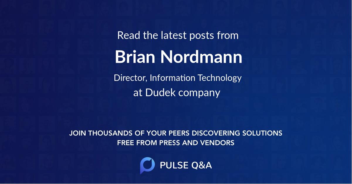 Brian Nordmann