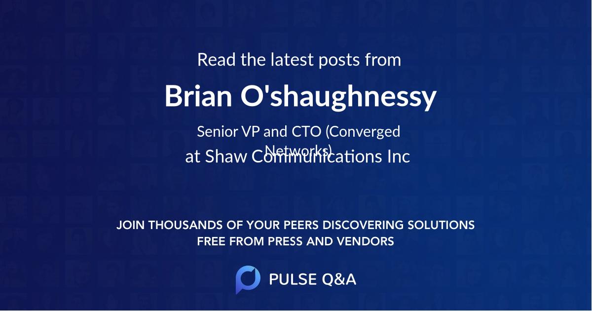 Brian O'shaughnessy