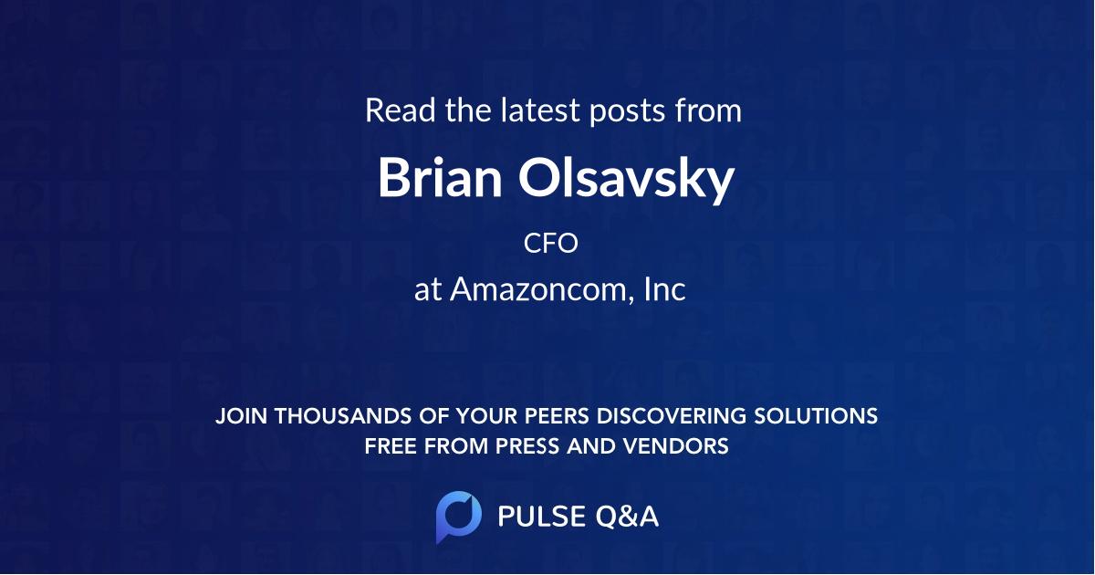 Brian Olsavsky