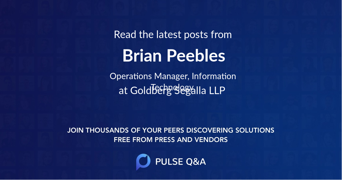 Brian Peebles