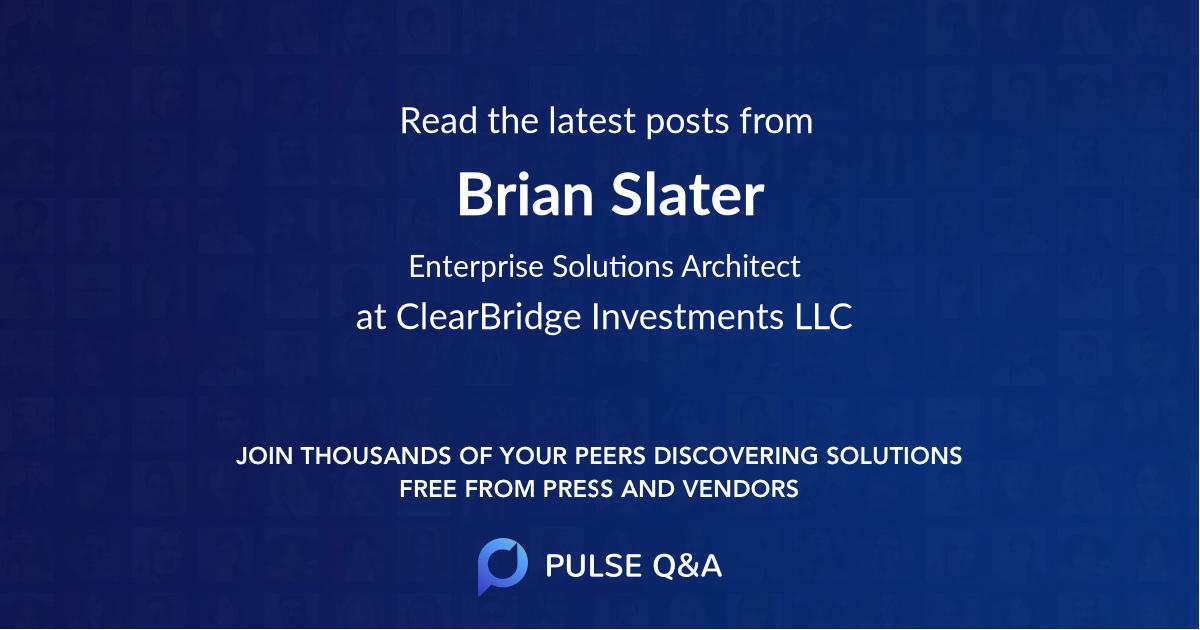Brian Slater