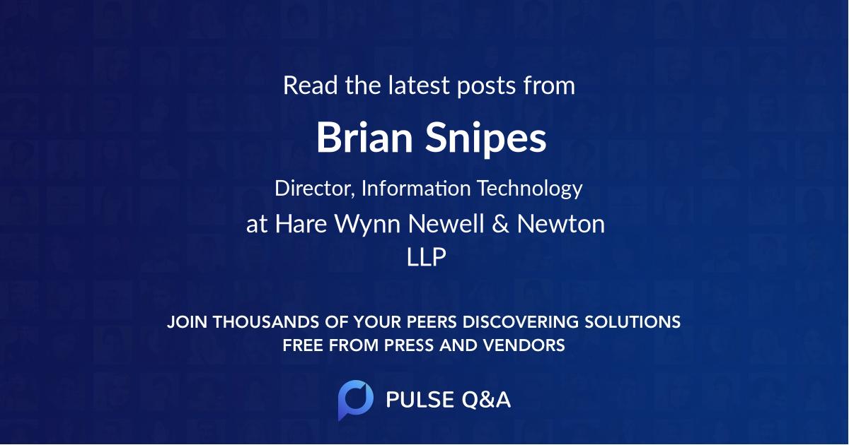 Brian Snipes