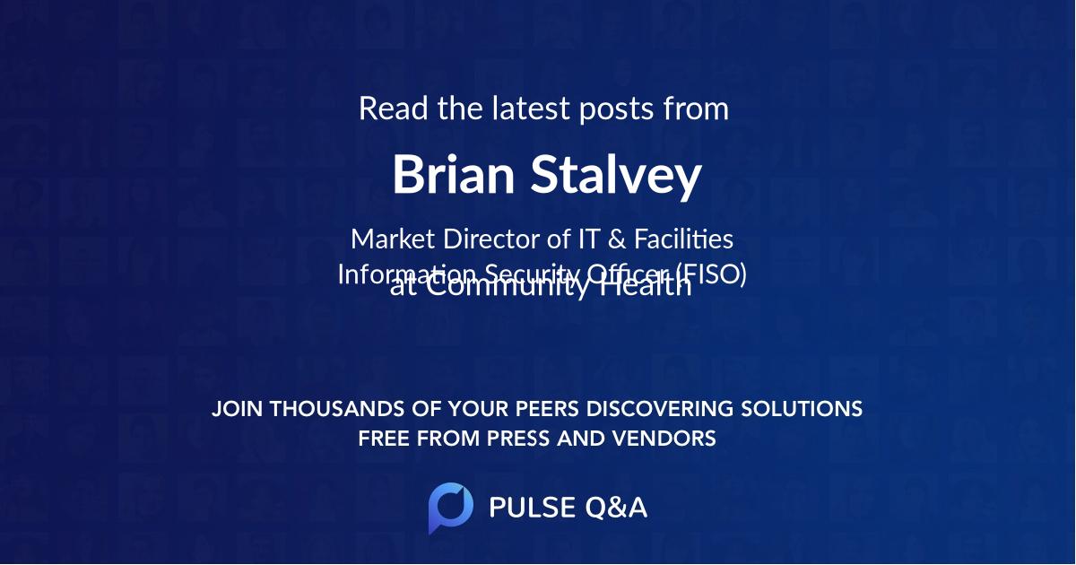 Brian Stalvey