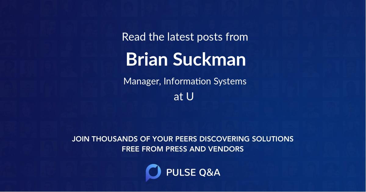 Brian Suckman