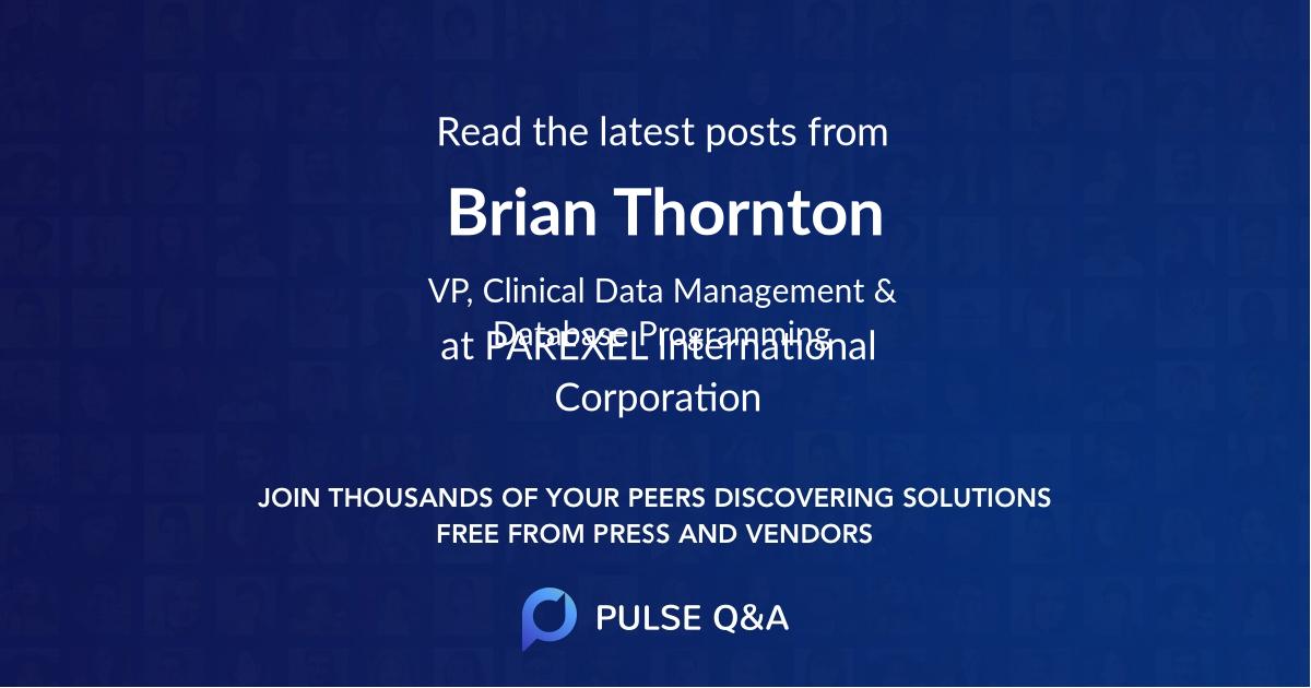Brian Thornton