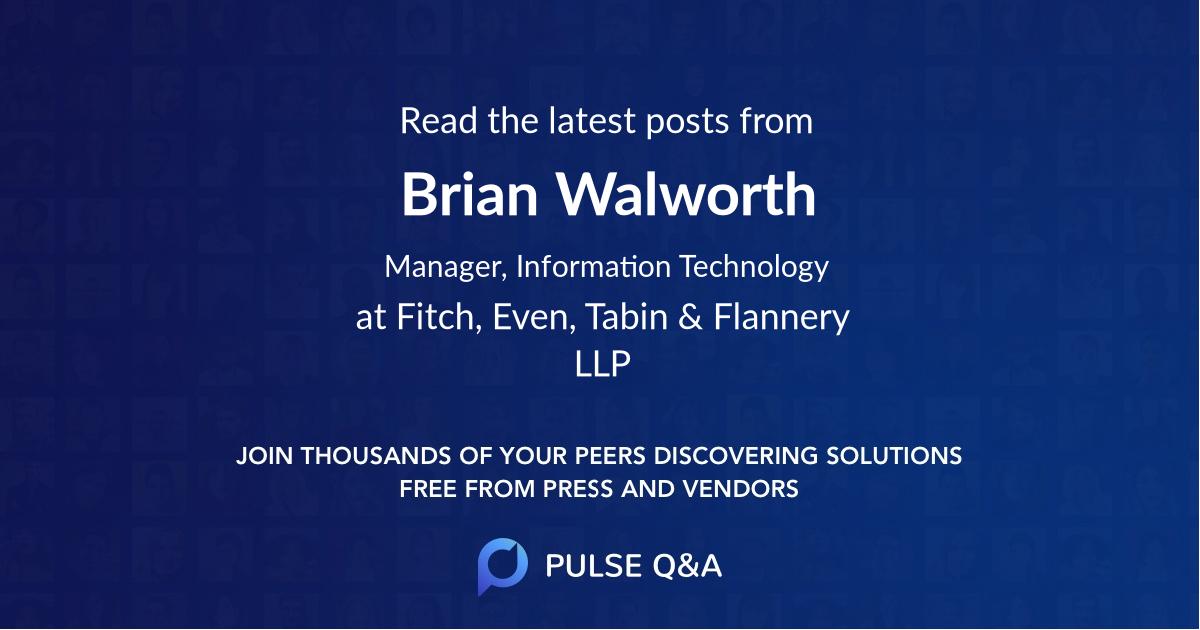 Brian Walworth