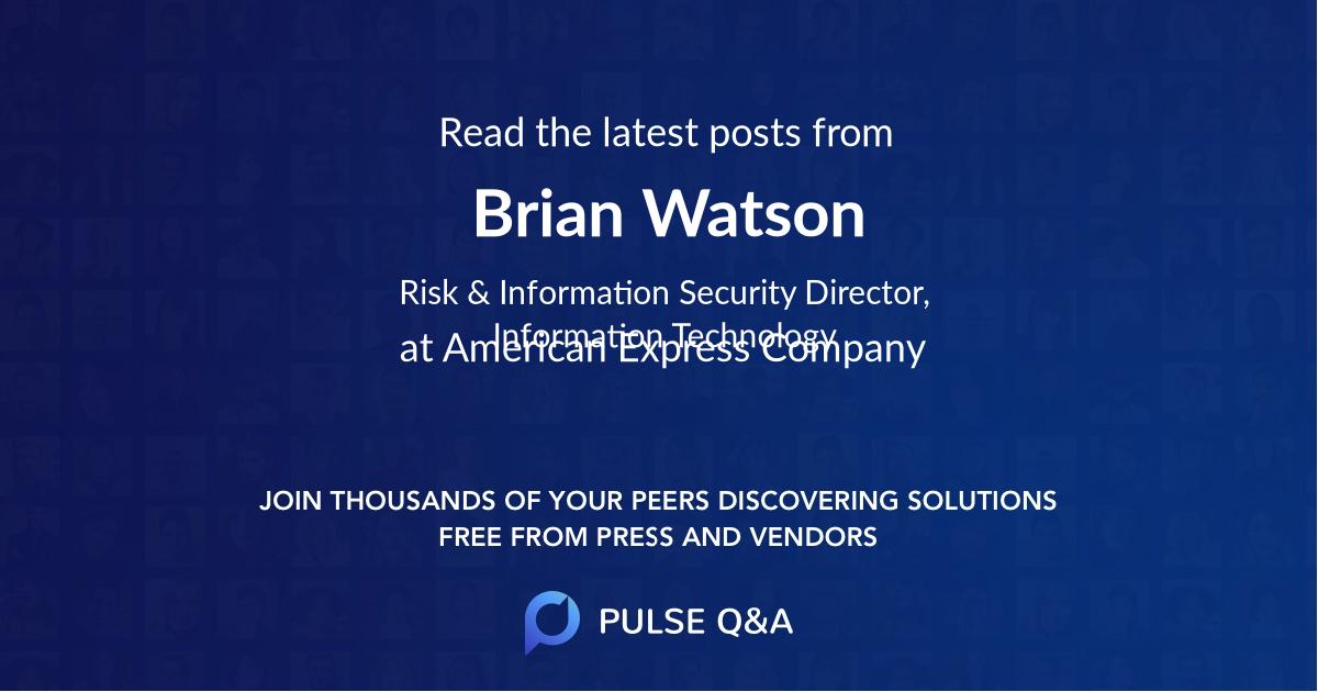 Brian Watson