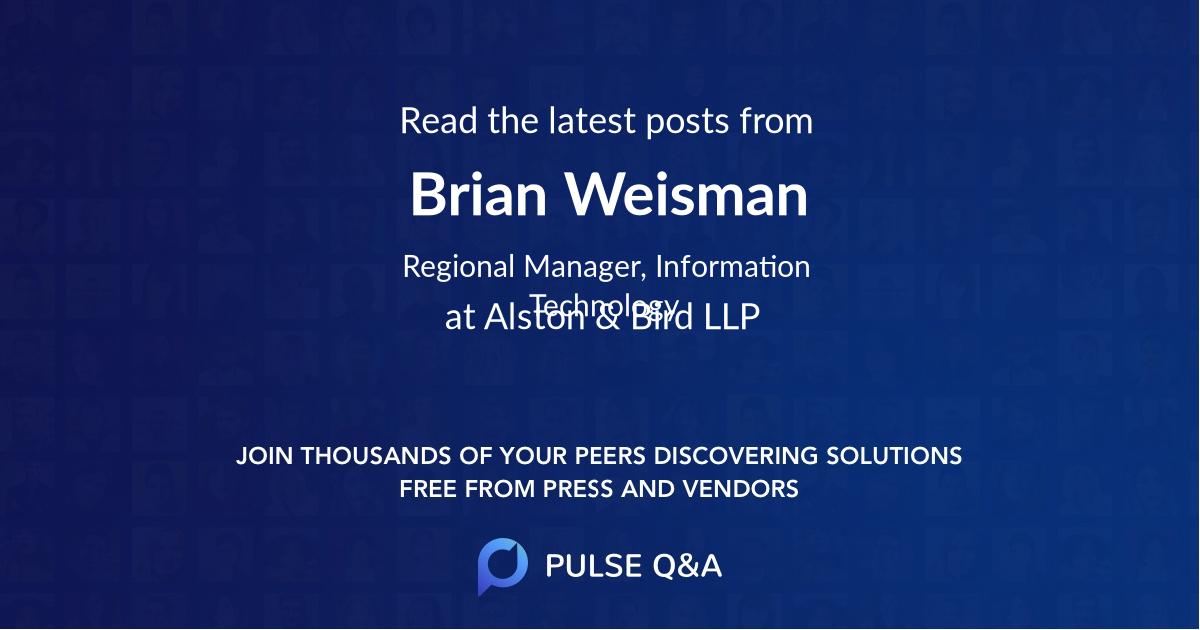 Brian Weisman