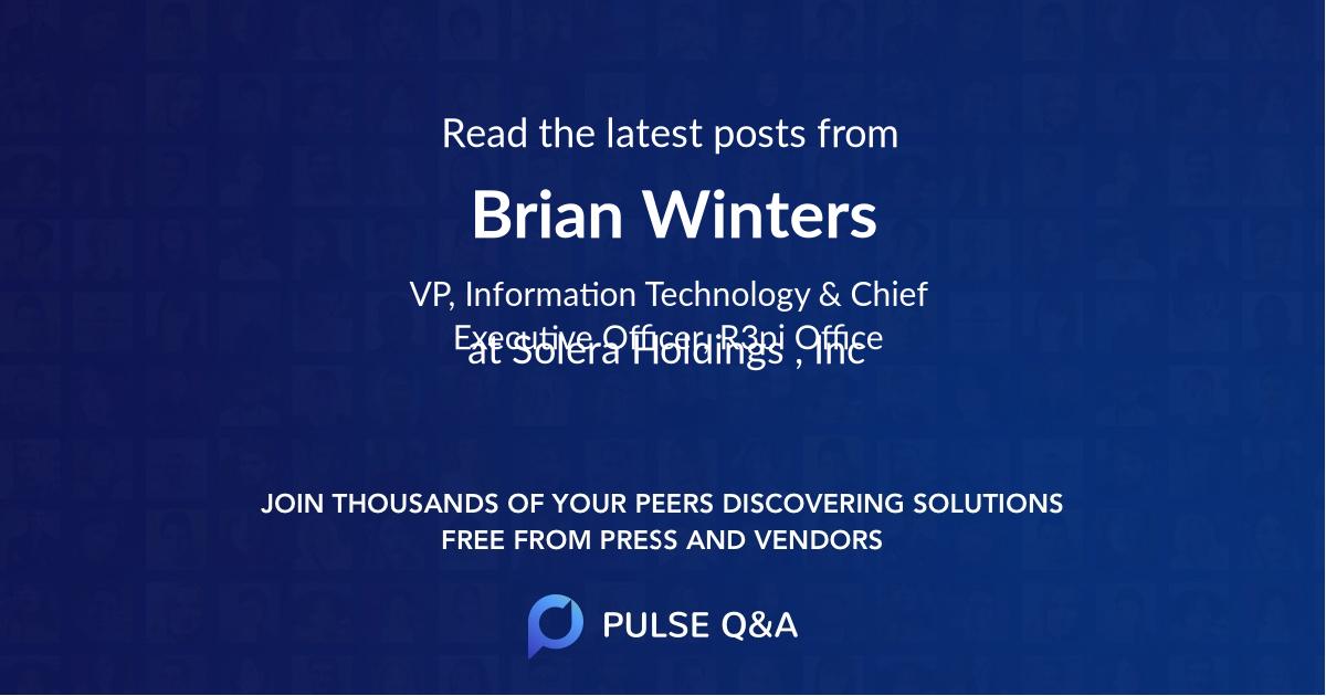 Brian Winters