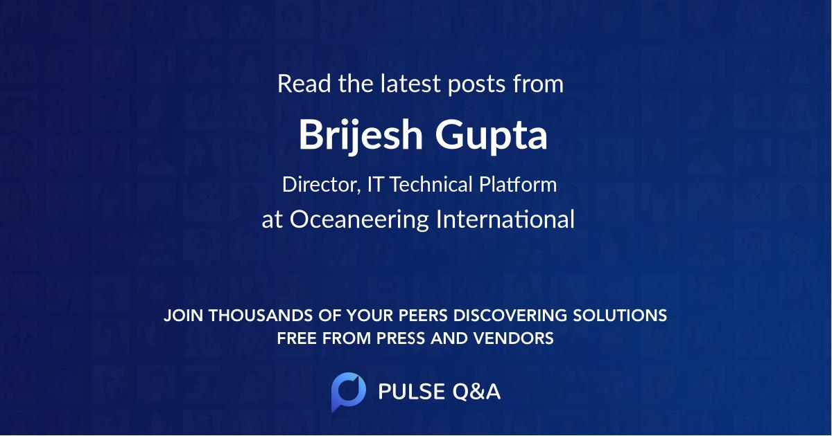 Brijesh Gupta