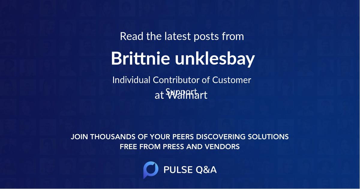 Brittnie unklesbay