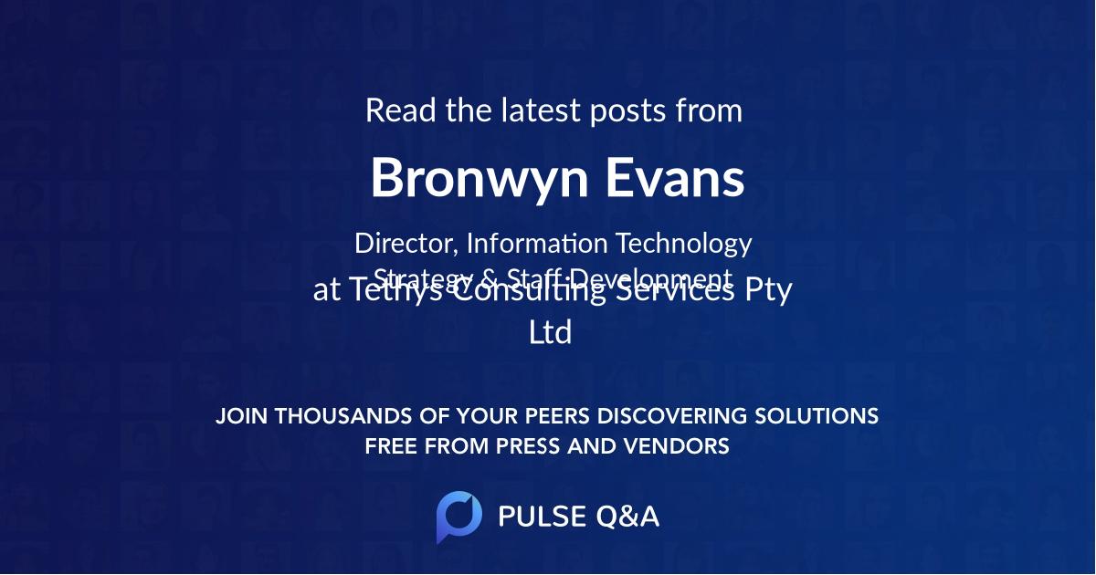 Bronwyn Evans