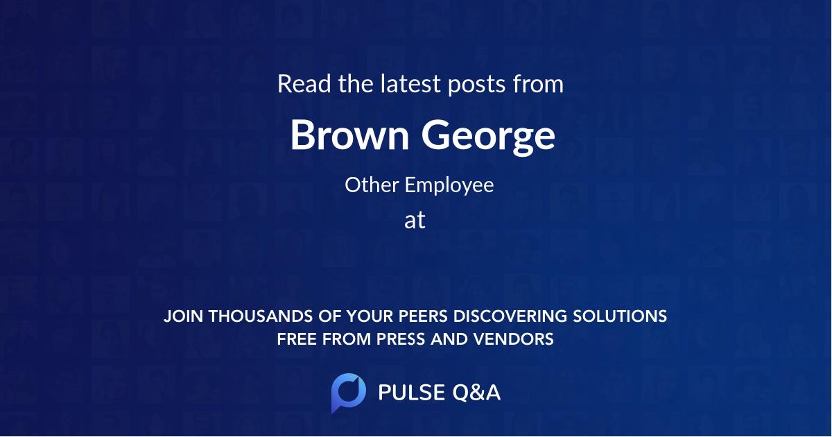 Brown George