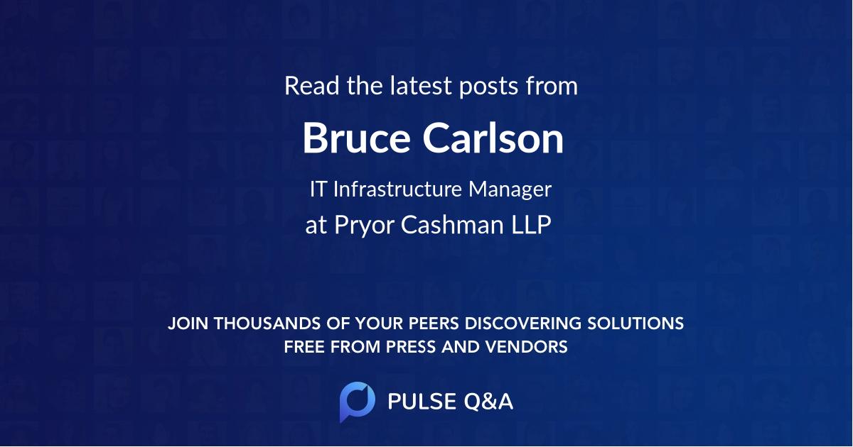 Bruce Carlson