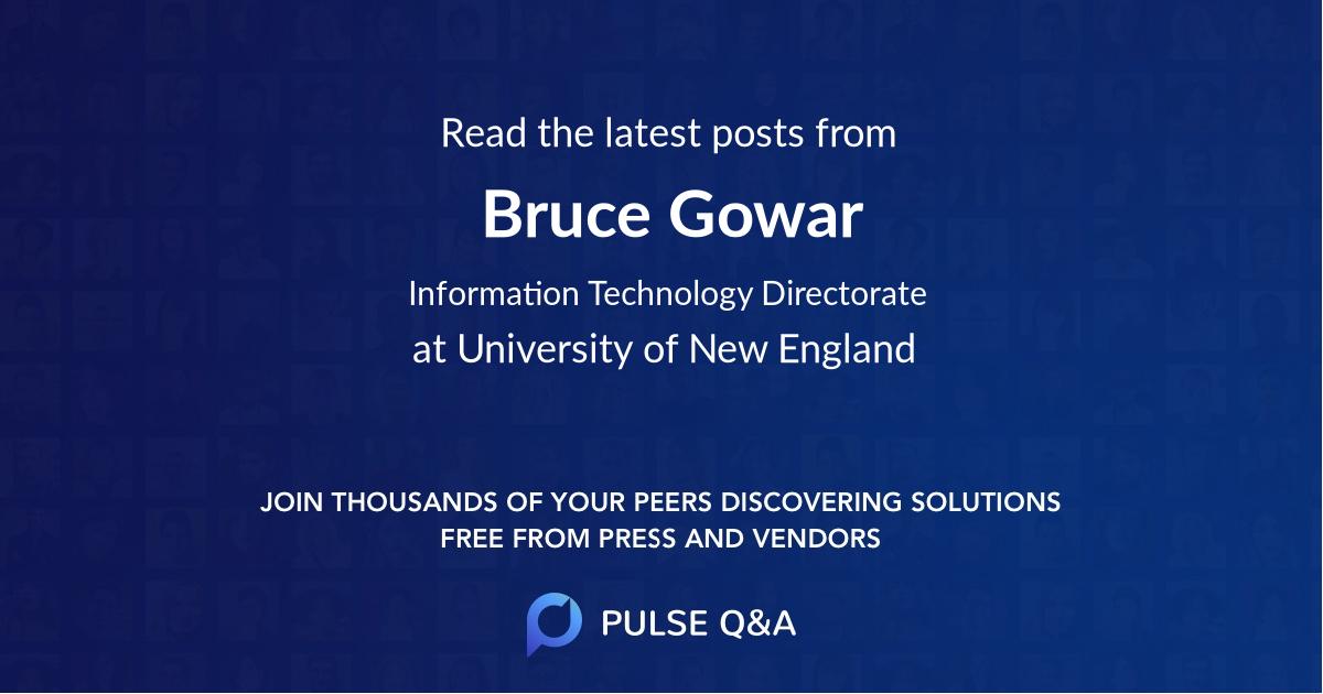 Bruce Gowar