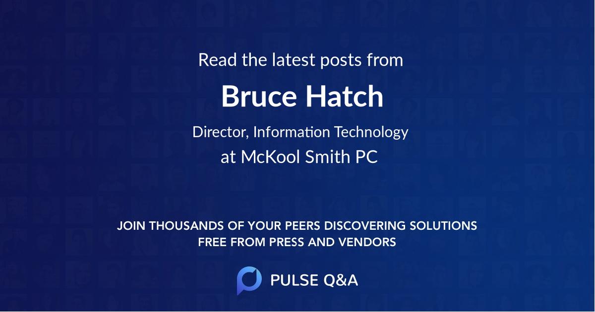 Bruce Hatch