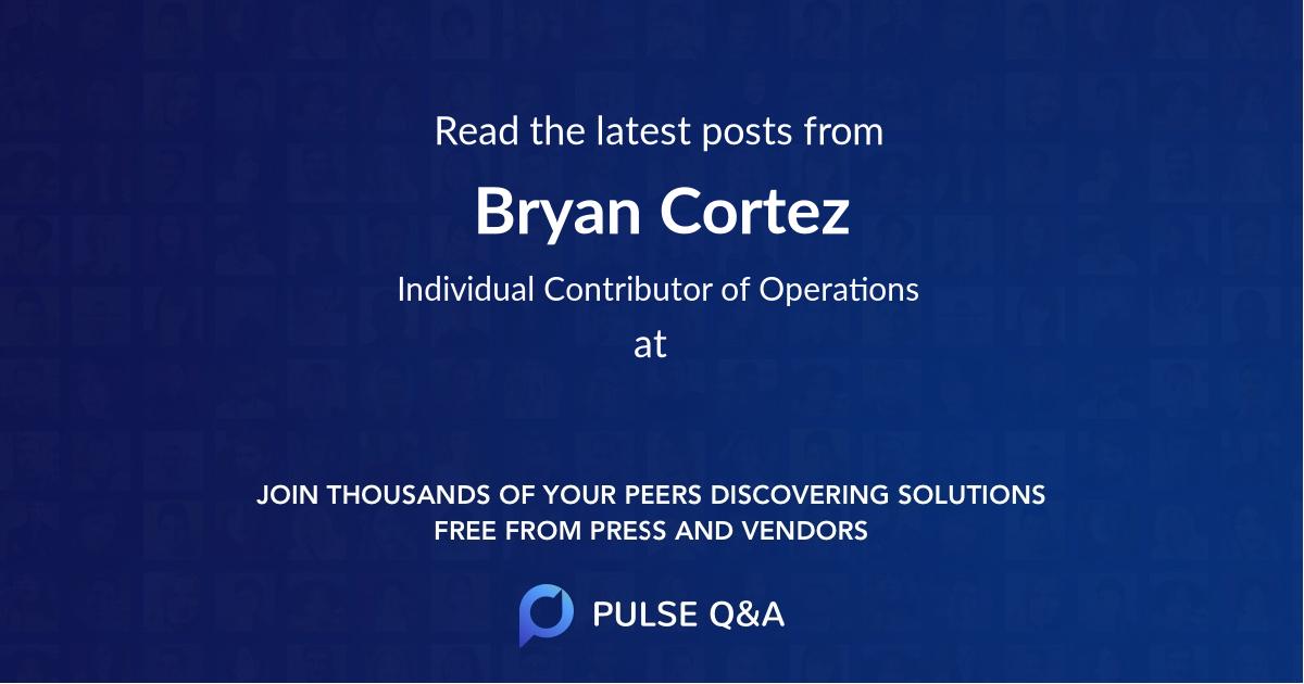 Bryan Cortez