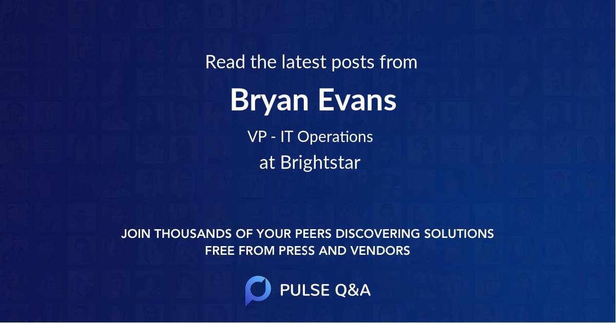 Bryan Evans