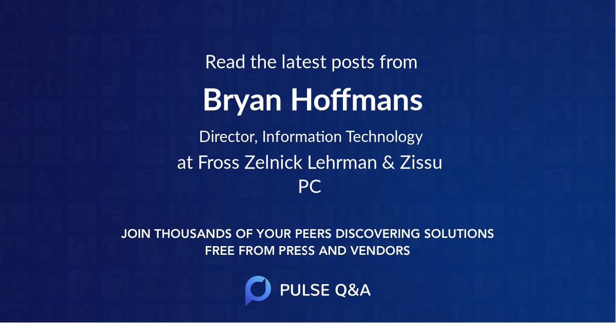 Bryan Hoffmans