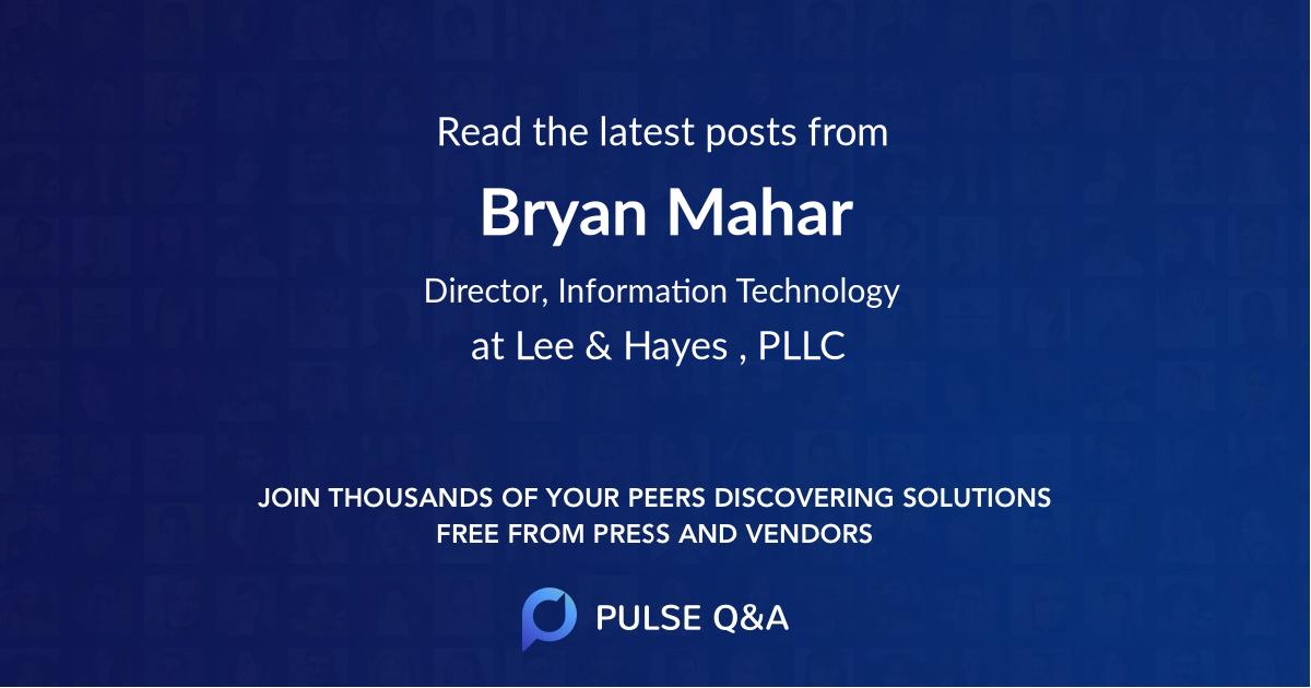 Bryan Mahar