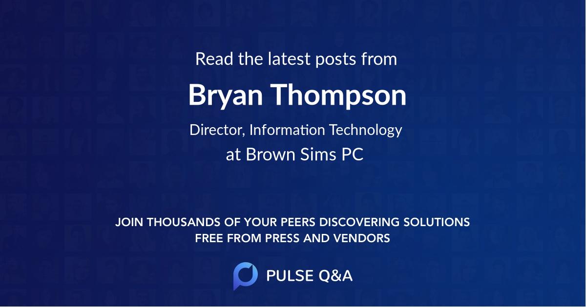Bryan Thompson
