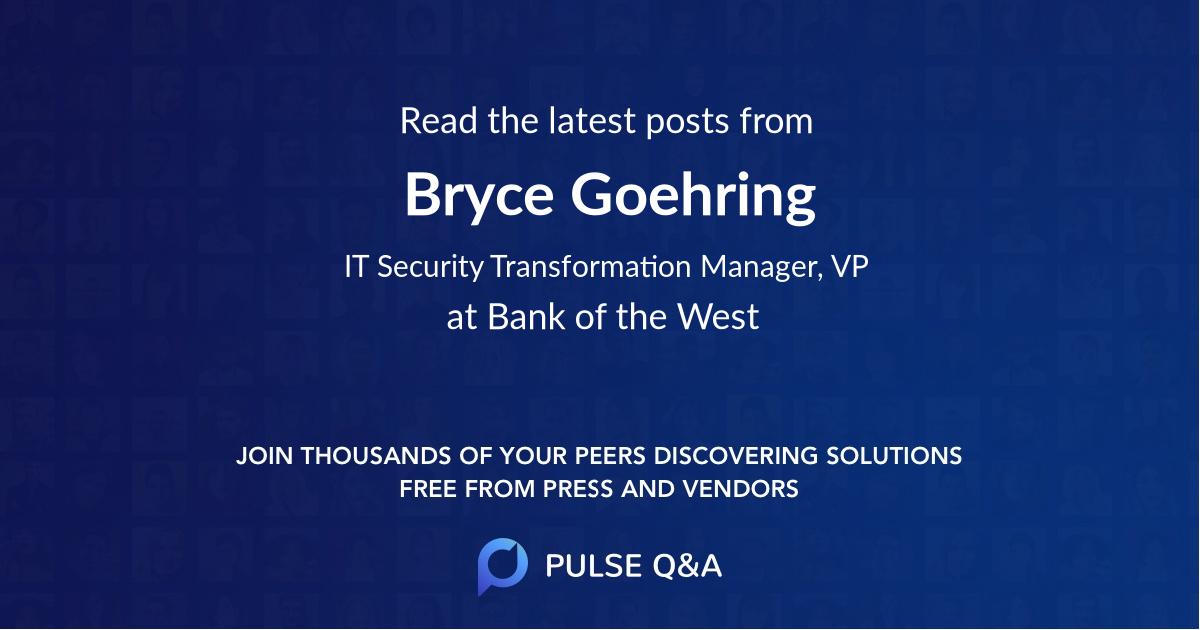 Bryce Goehring