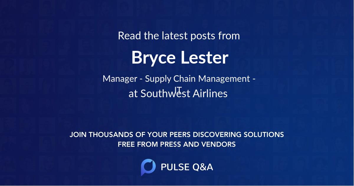 Bryce Lester