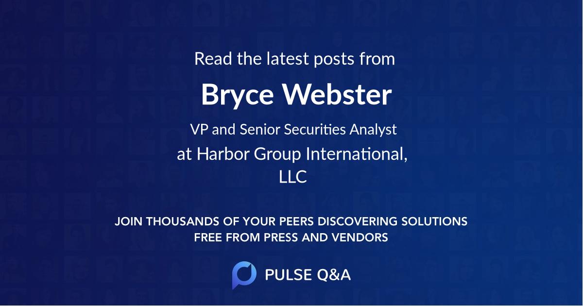 Bryce Webster