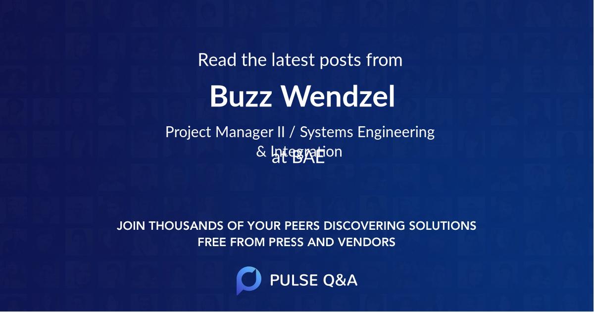 Buzz Wendzel