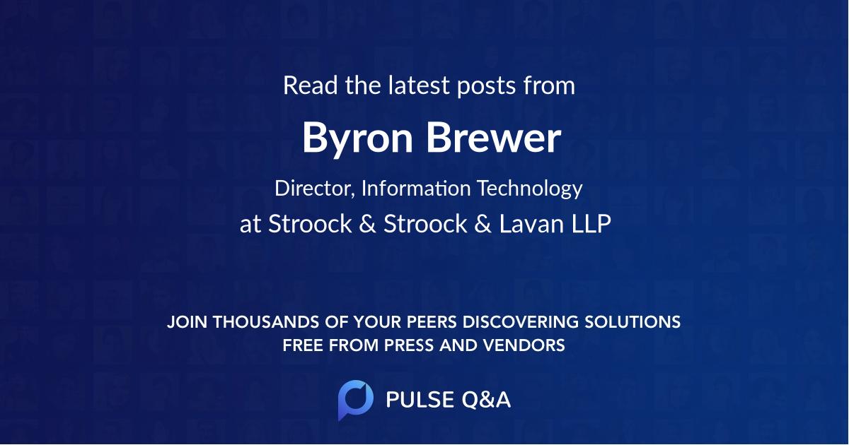 Byron Brewer