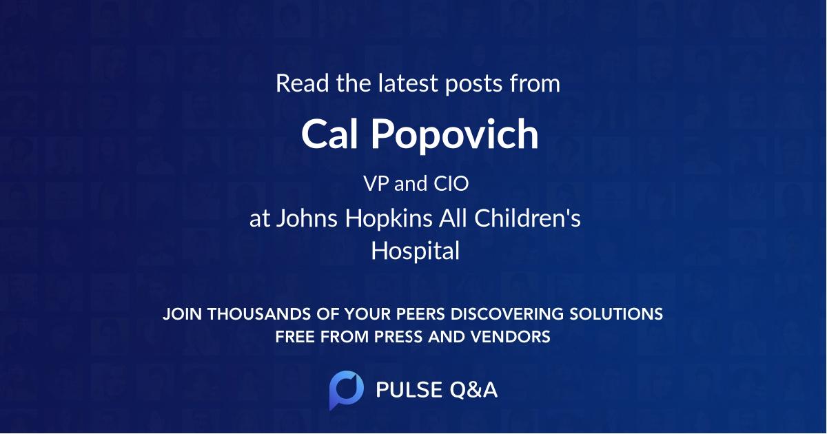 Cal Popovich