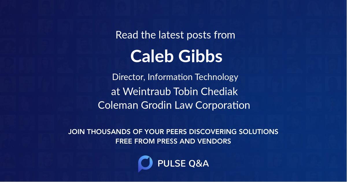 Caleb Gibbs