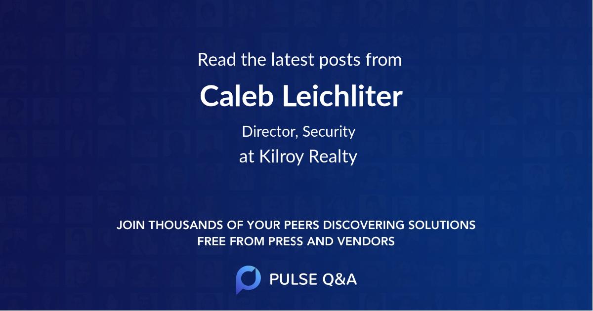 Caleb Leichliter