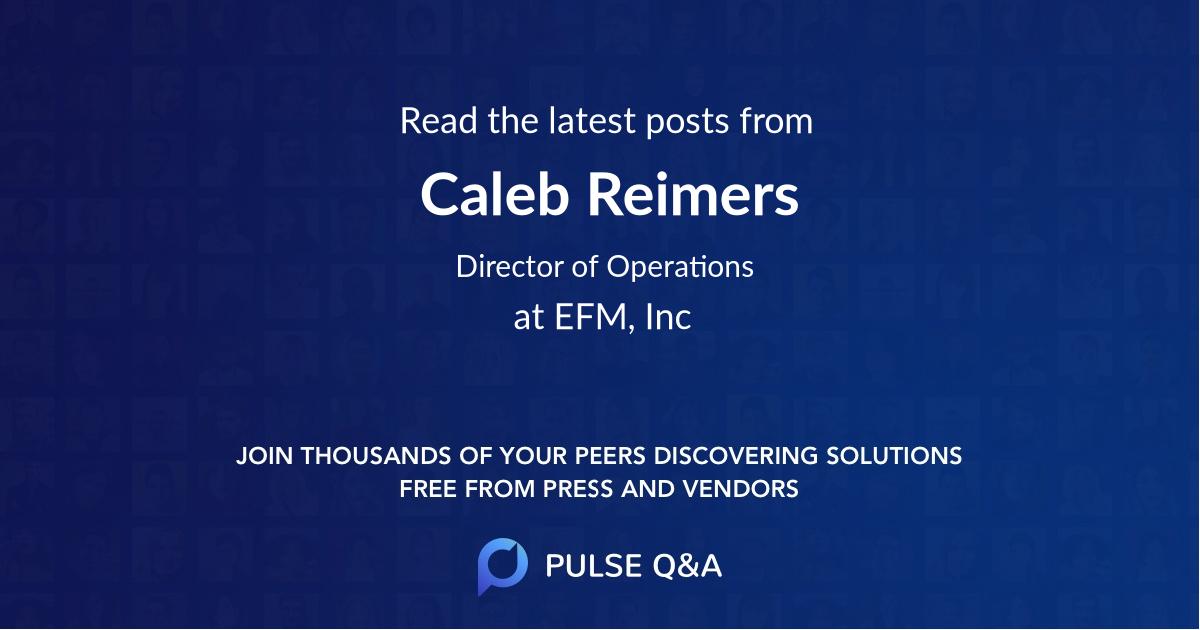 Caleb Reimers
