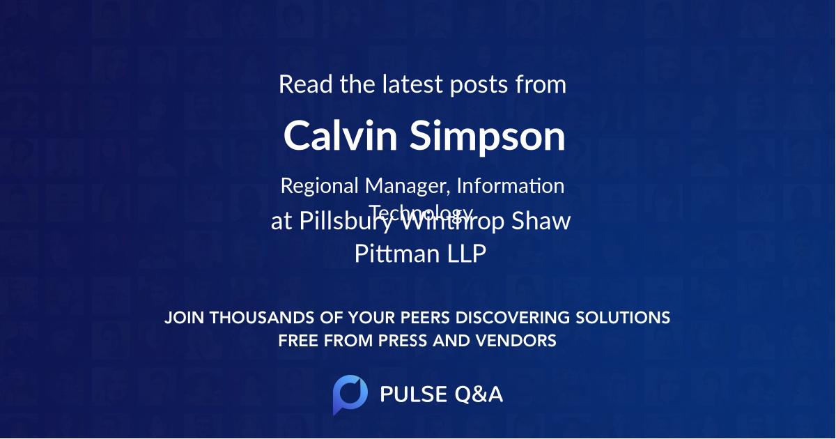 Calvin Simpson