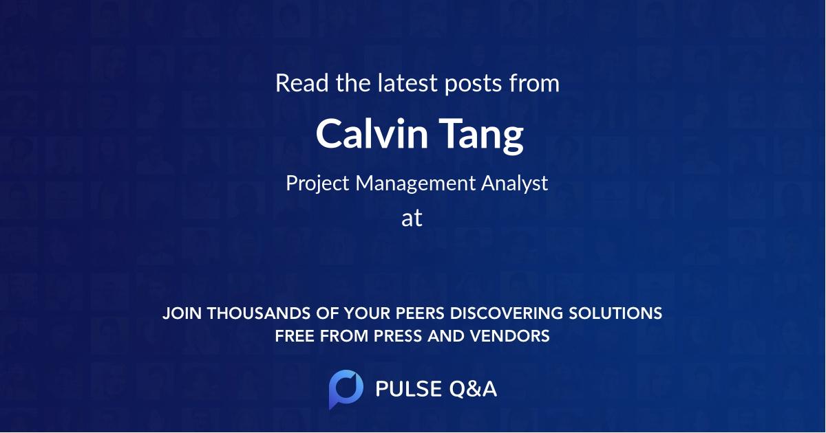 Calvin Tang