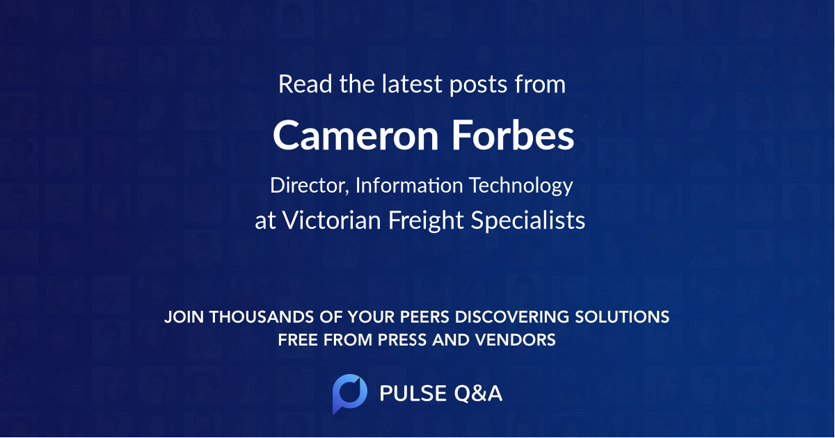 Cameron Forbes