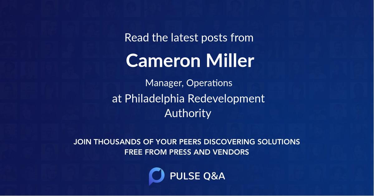 Cameron Miller