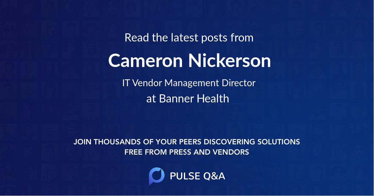 Cameron Nickerson