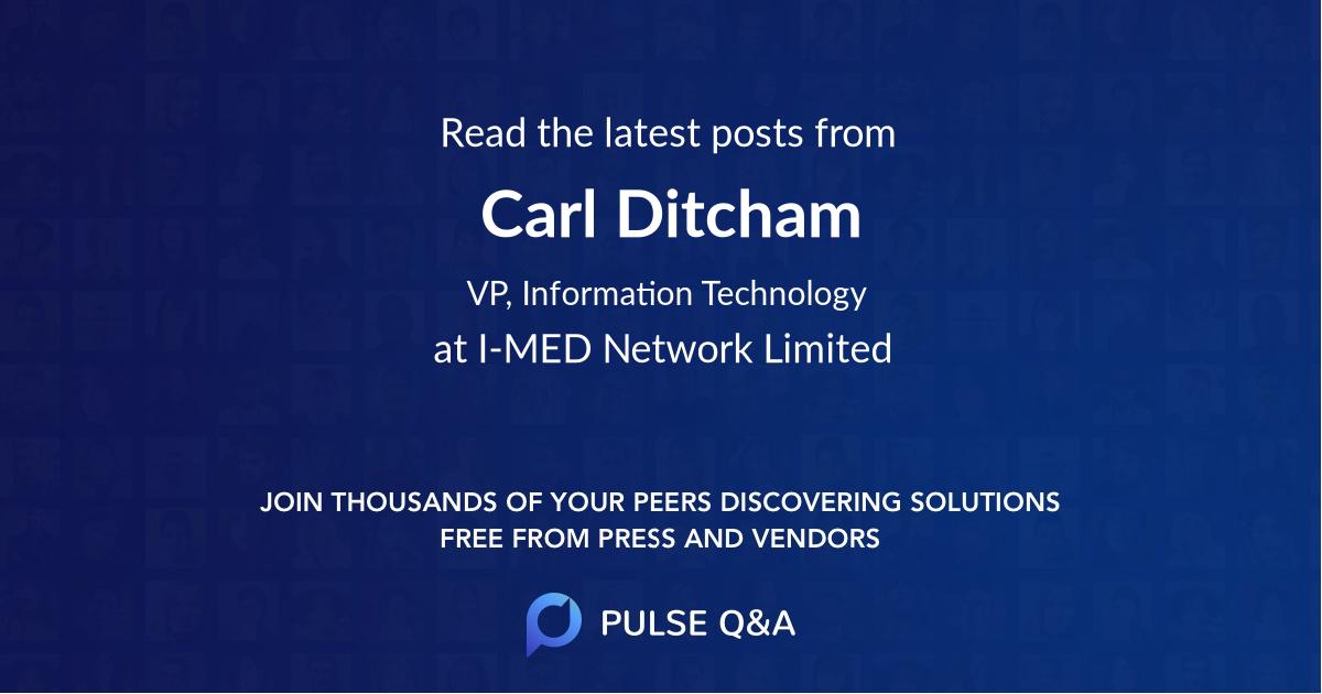 Carl Ditcham