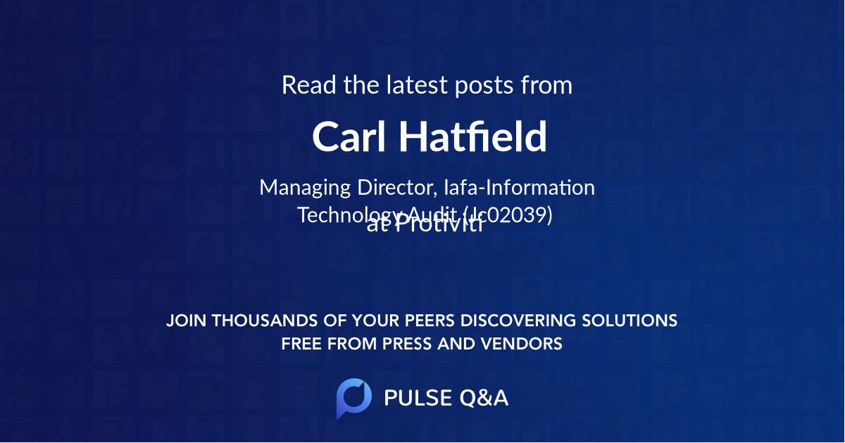 Carl Hatfield