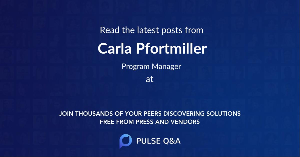 Carla Pfortmiller