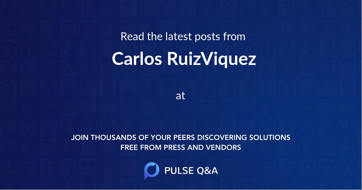 Carlos RuizViquez