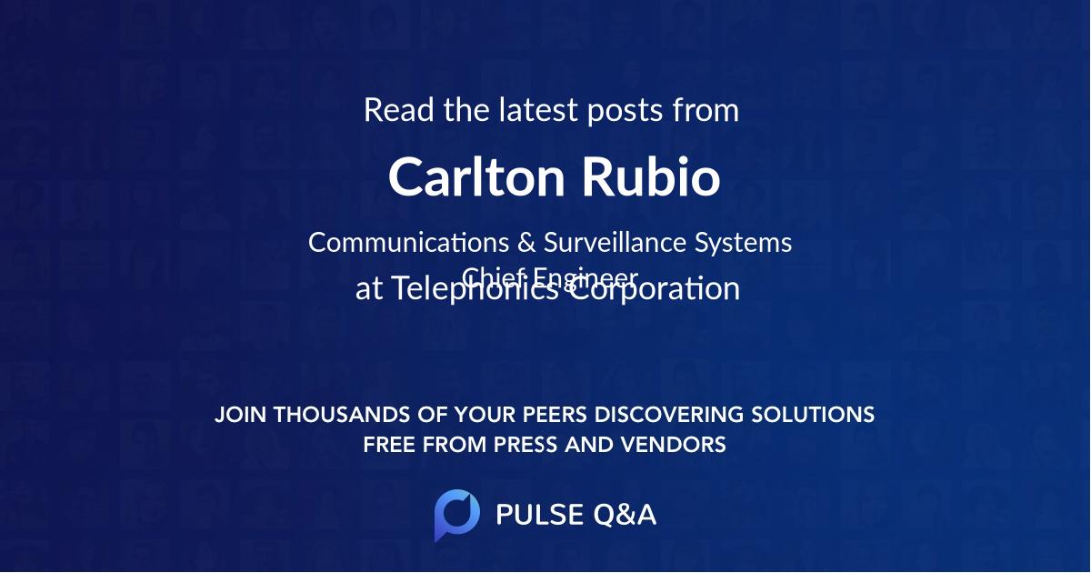 Carlton Rubio