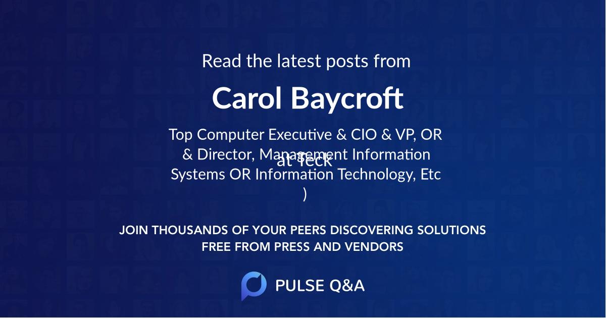 Carol Baycroft