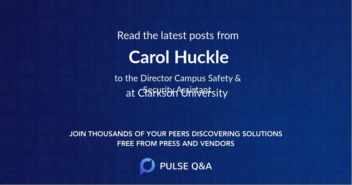 Carol Huckle